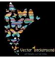 Butterflies swirl vector image vector image
