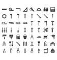 carpenter handyman tool and equipment icon set vector image vector image