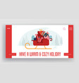 christmas eve and new year greetings website vector image