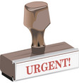 classic rubber stamp urgent vector image vector image