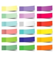 collection of colorful sticky notes vector image