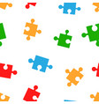 colorful jigsaw puzzle seamless pattern vector image
