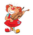 cute cat clown violinist vector image vector image