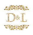 d and l vintage initials logo symbol the letters vector image vector image