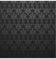 dark gray damask ornate wallpaper vector image