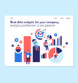 data analytics concept banner vector image vector image