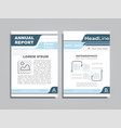 design brochure layout with place for your text vector image