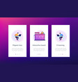 digital learning app interface template vector image