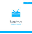 drum celebration blue business logo template vector image vector image