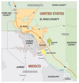 el paso county map united states vector image vector image