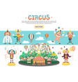 flat circus concept vector image vector image
