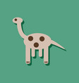 flat icon design giraffe toy in sticker style vector image vector image