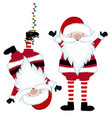 funny santa collection isolated on white vector image