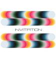 geometric colorful invitation vector image vector image