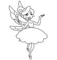 green fairy line art vector image vector image