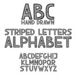 hand draw doodle abc alphabet grunge type font vector image