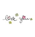 Hand written love you