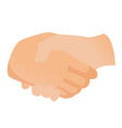 handshake cartoon vector image