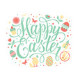 happy easter with hand lettering text vector image