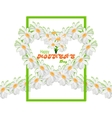 Happy Mothers Day background Tape from daisies in vector image
