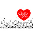 happy valentines day lettering text greeting card vector image
