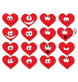 heart shape faces vector image vector image