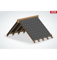 Icon of Roof with shingles bitumen roofing cover