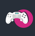 joystick game controller flat vector image