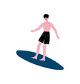 male surfer riding surfboard happy man enjoying vector image vector image