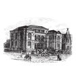 Massachusetts Lenox Library engraving vector image vector image