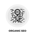 Organic SEO Line Icon vector image vector image
