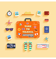 planning summer vacation vector image