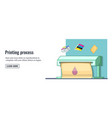 print process banner horizontal man cartoon style vector image vector image