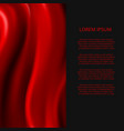 realistic red silk fabric abstract banner design vector image vector image
