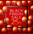 red balloons with black friday sale twenty five vector image vector image