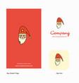 santa clause company logo app icon and splash vector image vector image