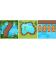 Scenes of water park from top view vector image vector image