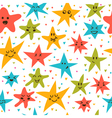 Seamless pattern with funny little stars Stylish vector image vector image