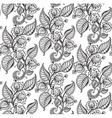 seamless pattern with hand drawn fancy flower vector image
