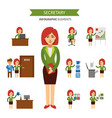 secretary at work infographic elements business vector image