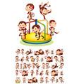 set different monkeys vector image vector image