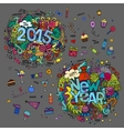 Set of 2015 and New Year hand lettering and vector image vector image