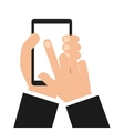 smartphone technology portable icon vector image vector image