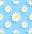 spring blue background seamless pattern chamomile vector image vector image