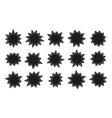 starburst stickers sunburst stars sales and vector image vector image