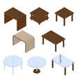Tables isometric vector image vector image