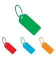 Tag sign Colorfull set vector image vector image