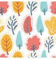 trees on white background seamless pattern vector image