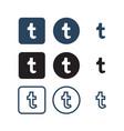 tumblr social media icons vector image vector image