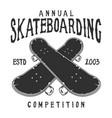 vintage skateboarding label vector image vector image